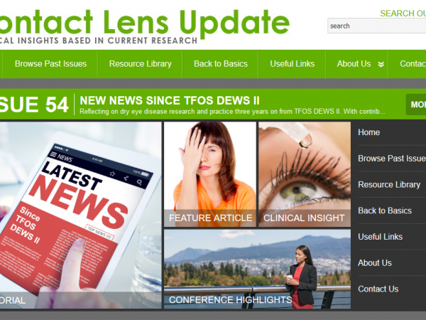 Contact Lens Update investigates Dry Eye Disease