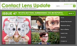 New Contact Lens Update Issue Focuses on  the International Myopia Institute White Paper Reports